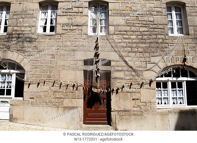 Decorated house at douarnenez france