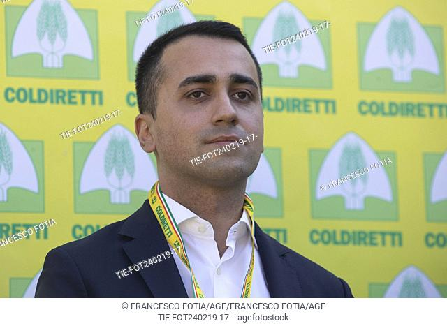 Italian Deputy Premier and Labour and Industry Minister Luigi Di Maio attends at the event of Coldireti (National Confederation of Direct Cultivators) in Rome
