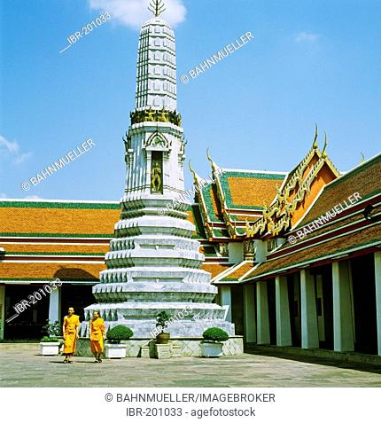 Wat Pho temple Bangkok Thailand built from 1789 White Tower