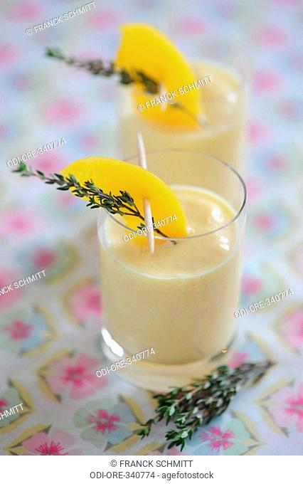 Apricot and thyme milkshake