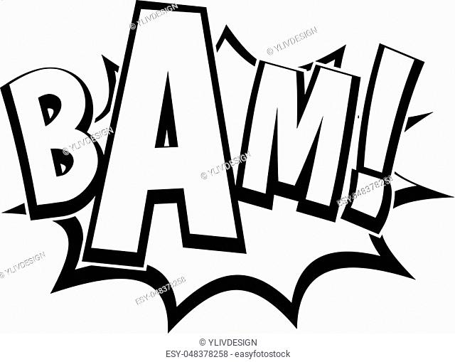 BAM, comic book bubble icon. Simple illustration of BAM, comic book bubble vector icon for web