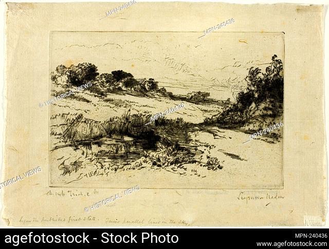 Windmill Hill, No. I - 1877 - Francis Seymour Haden English, 1818-1910 - Artist: Francis Seymour Haden, Origin: England, Date: 1877