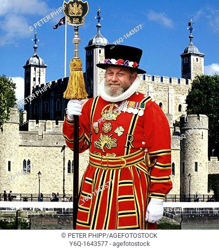 Beefeater in Ceremonial Uniform at the Tower of London
