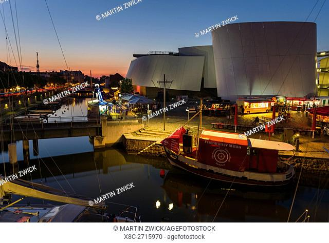 Ozeaneum, a museum dedicated to oceans especially the Baltic and the North Sea, a new architectural icon and landmark of Stralsund The Hanseatic City Stralsund