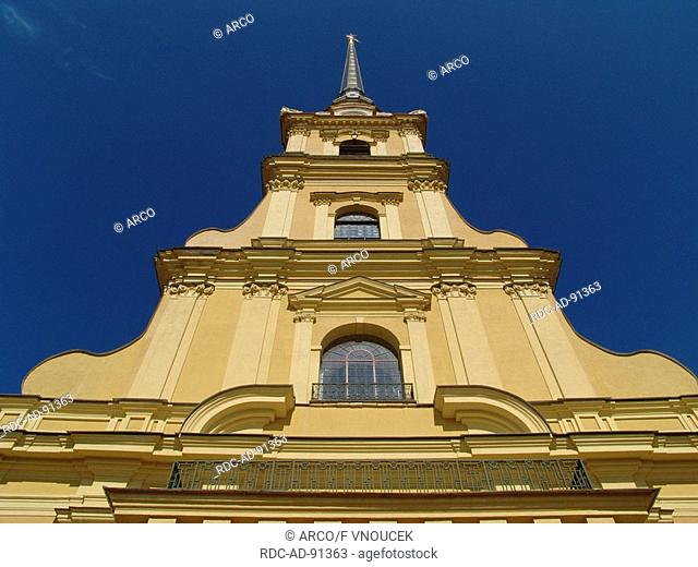 Cathedral at Peter and Paul Fortress Saint Petersburg Russia