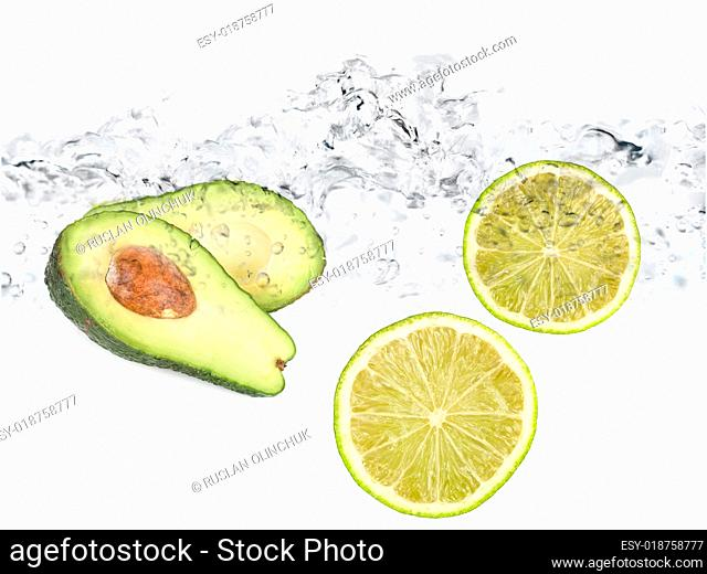 limes in water avocado