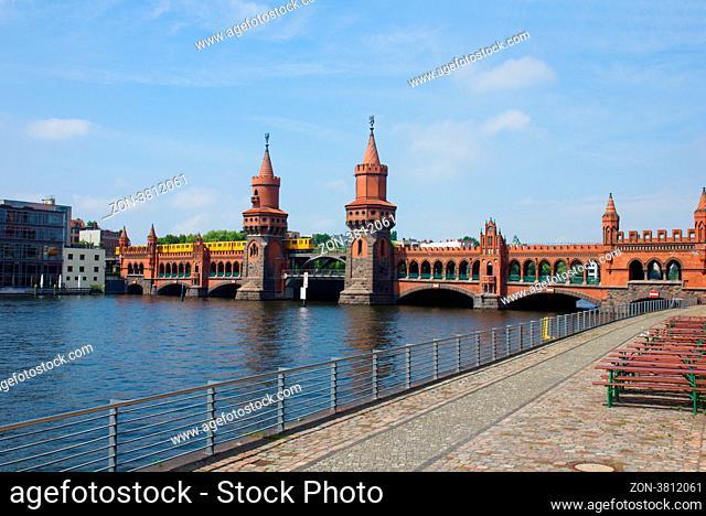Oberbaumbridge, ex deviding post between east and west Berlin, Germany