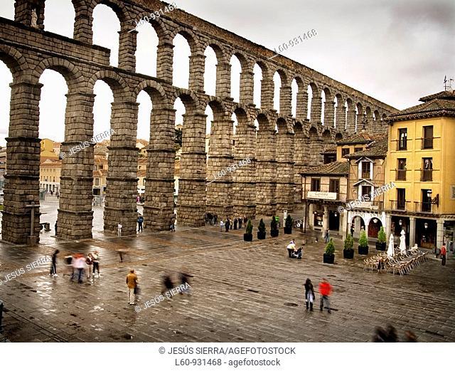 rain in Segovia, Spain
