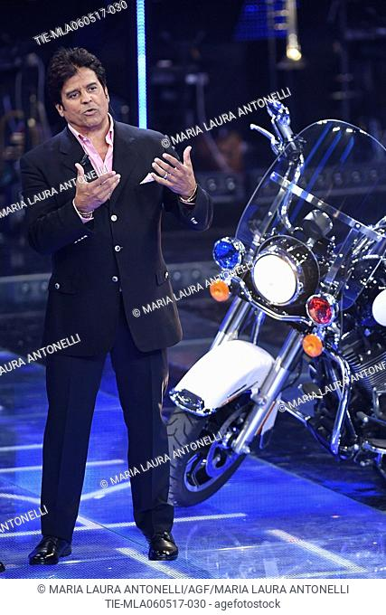 Erik Estrada during the television show RAI I Migliori Anni, police officer known for his role in the police drama television series CHiPs . Rome