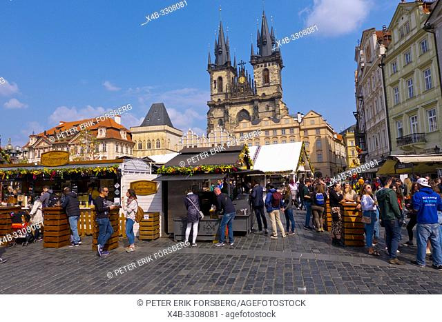 Easter Market, old town square, Prague, Czech Republic