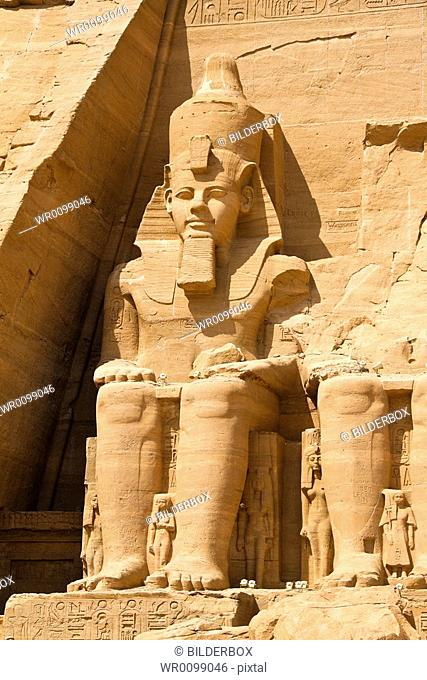 Highlight of a trip to Egypt. The stone temple in Abu Simbel