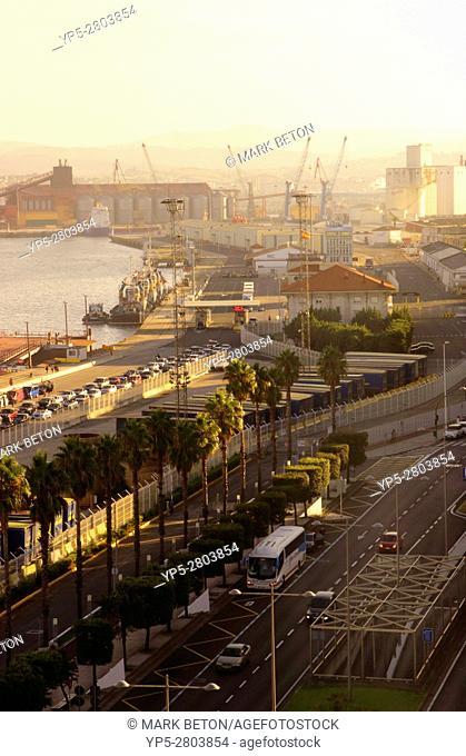 View along Calle Antonio Lopez in port of Santander Cantabria Spain