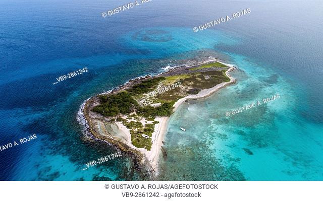 Aerial View, rasky island, losroques venezuela