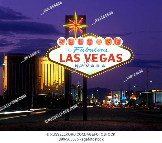 Neon Sign, The Strip, Las Vegas, Nevada, Usa
