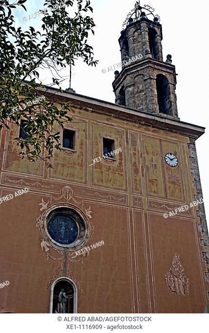 Santa Maria church, Capellades, Catalonia, Spain
