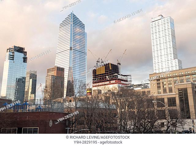 10 Hudson Yards, center left, and other Hudson Yards development in New York