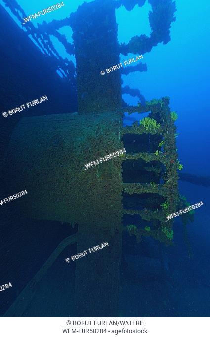 Wreck Vassilios T, Ravnik, Vis Island, Adriatic Sea, Croatia