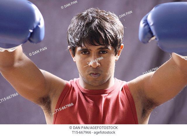 boxer in triumph