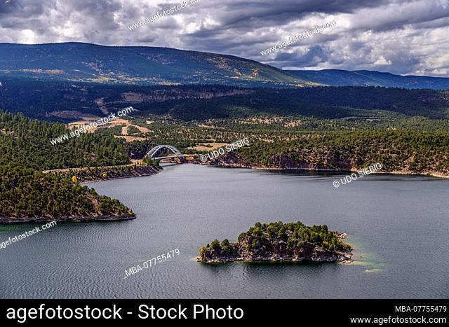 The USA, Utah, Dagett county, Dutch John, Flaming Gorge reservoir