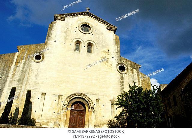 Facade of Saint-Paul-Trois-Châteaux Cathedral, Drome, France
