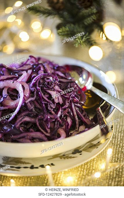Sauté red Cabbage with spiced butter