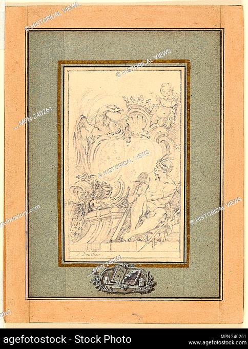 Armorial Bookplate for Crozat, Baron de Thiers - c. 1753 - François Boucher French, 1703-1770 - Artist: François Boucher, Origin: France, Date: 1743-1770