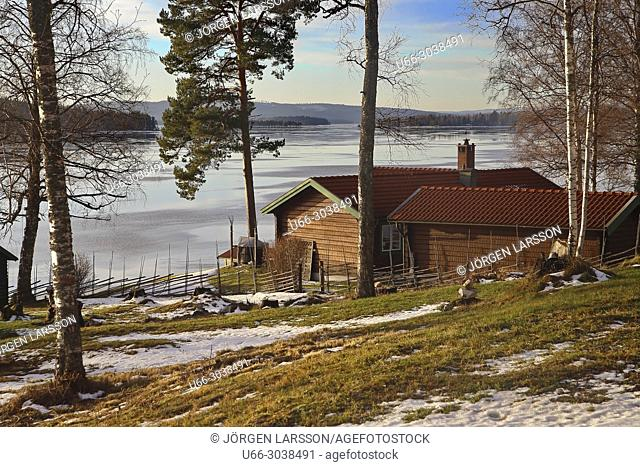 Late winter at Ludvika, Dalarna, Sweden