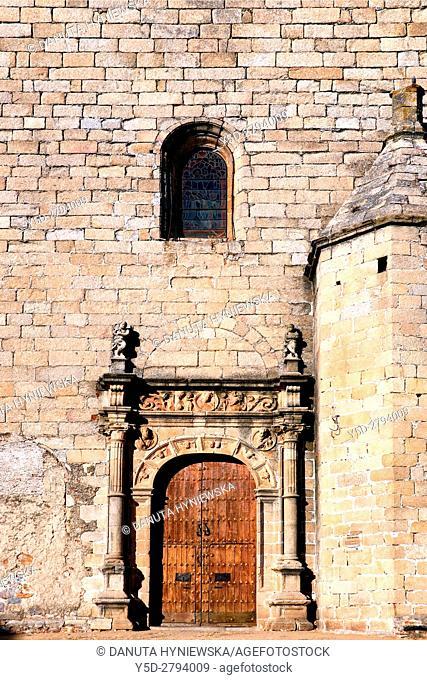 Facade of San Mateo church - Iglesia de San Mateo, Old Town of Caceres. UNESCO World Heritage Site, Extremadura. Spain, Europe