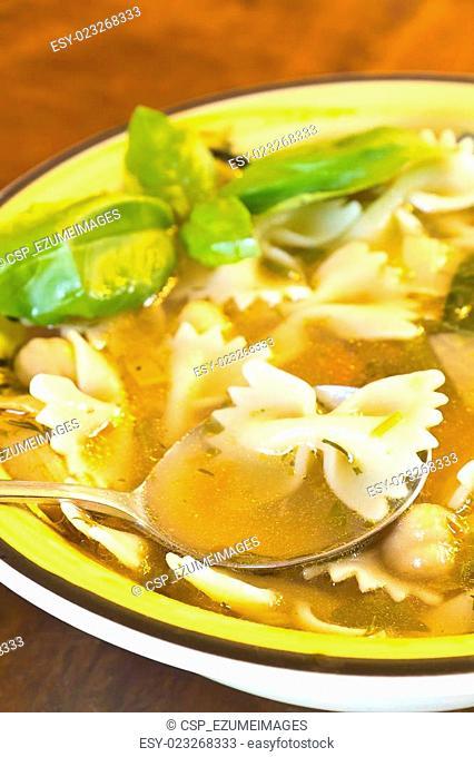 Farfalle Bow Tie Soup