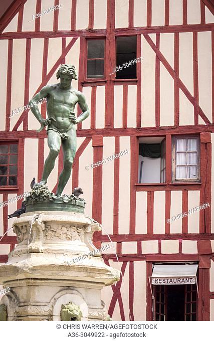Statue of Bareuzai Place Francois Rude Dijon Cote-d'Or Bourgogne-Franche-Comte France