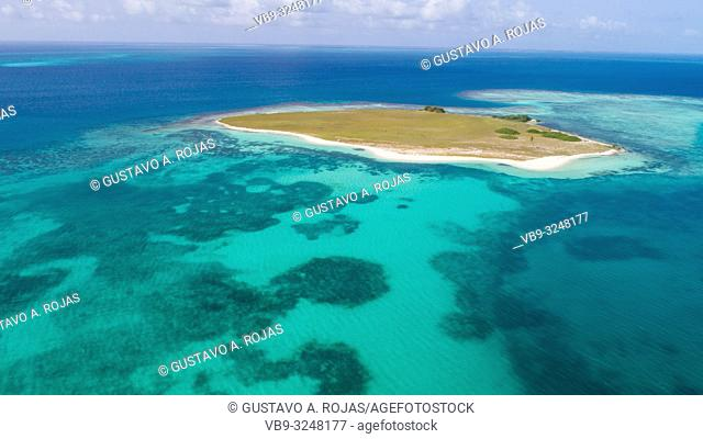 DOS MOSQUICES Aerial View Archipelago Los Roques Venezuela, Atoll