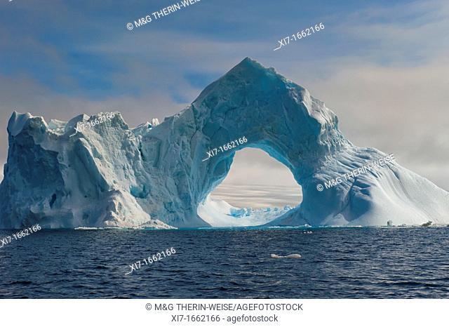Natural Arch carved in an iceberg, Antarctic Sound, Antarctic Peninsula
