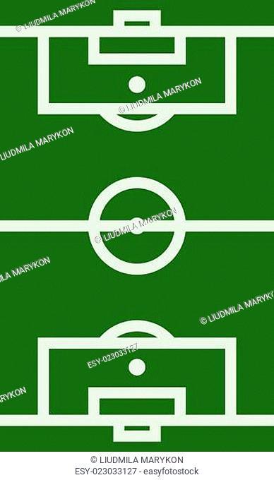 Vector football field illustration