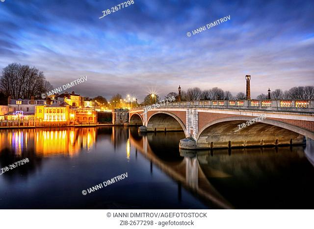 Hampton Court Bridge,Surrey,UK