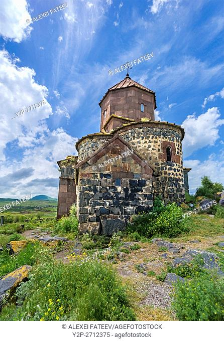 Surb Stepanos church at Hayravank Monastery (dating to the 9th century) on the bank of lake Sevan in Armenia