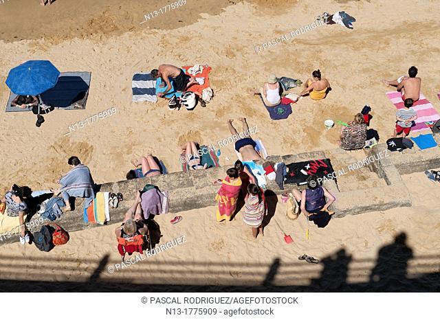Beach at douarnenez france
