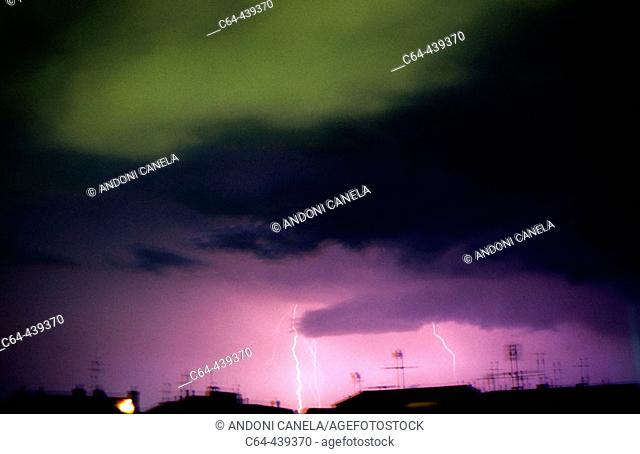 Storm. Barcelona. Catalonia. Spain