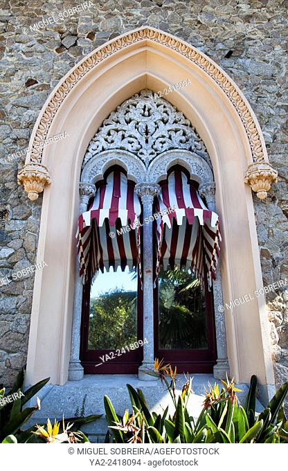 Monserrate Palace Villa Window Detail - Sintra Portugal