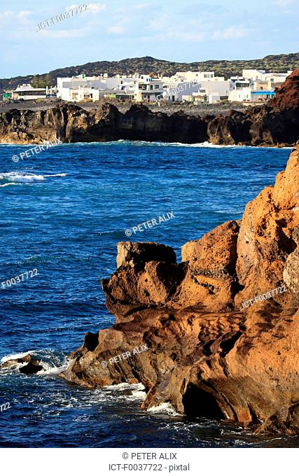 Spain, Canary islands, Lanzarote, El Golfo