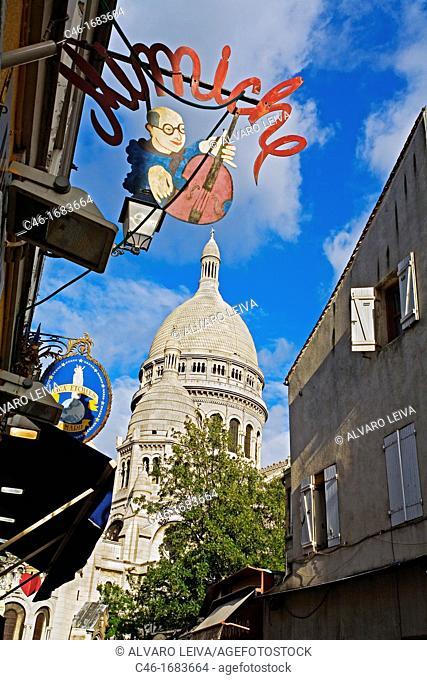Montmartre, Basilica of Sacre Coeur  Paris  France