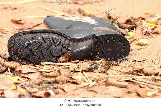 Soldier's tarpaulin boots