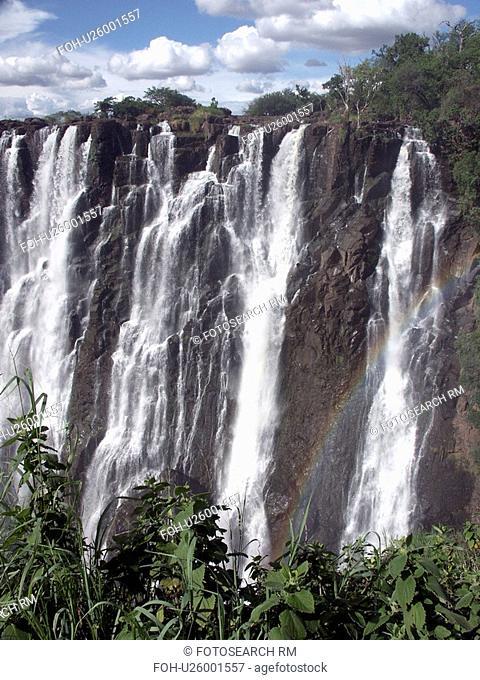 livingstone, person, falls, victoria, zambia, people