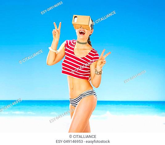 Video game beach summer vacation Stock Photos and Images