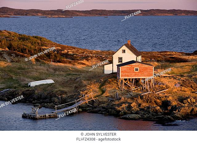 House and stage, Change Islands, Newfoundland & Labrador