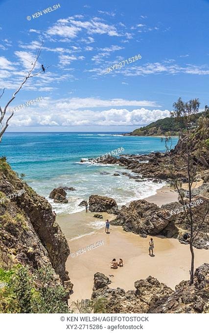 Byron Bay, New South Wales, Australia. Beach. Cape Byron, just outside of town, is the eastern-most point of mainland Australia