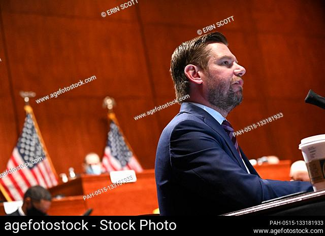 "United States Representative Eric Swalwell (Democrat of California), speaks during a markup on H.R. 7120, the """"Justice in Policing Act of 2020"