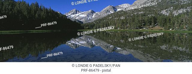 Rock Creek Lake Eastern Sierra Mountains CA