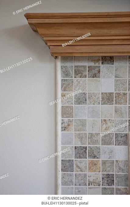 Cropped image of tiled mantle