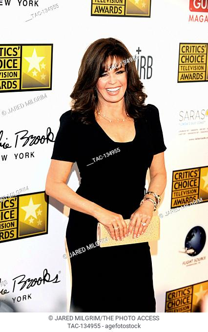 TV Personality Marie Osmond arrives at the Broadcast Television Journalists Association's third annual Critics' Choice Television Awards at The Beverly Hilton...