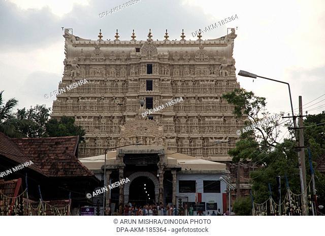 Padmanabhaswamy Temple at trivandrum kerala India